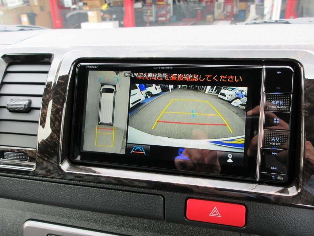 現行6型からオプション設定となったパノラミックビューモニターも完備!!!駐車もしっかり確認出来ますよっ!!!