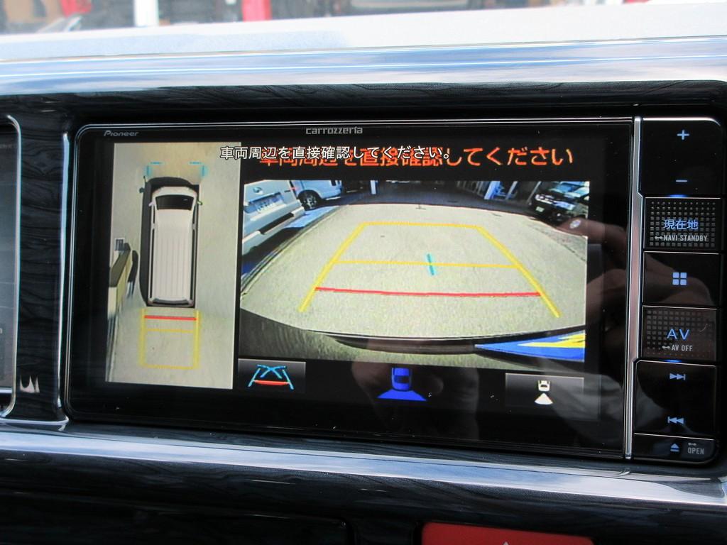 現行型より採用されたパノラミックビューモニター♪駐車時の安心感が違いますねっ♪