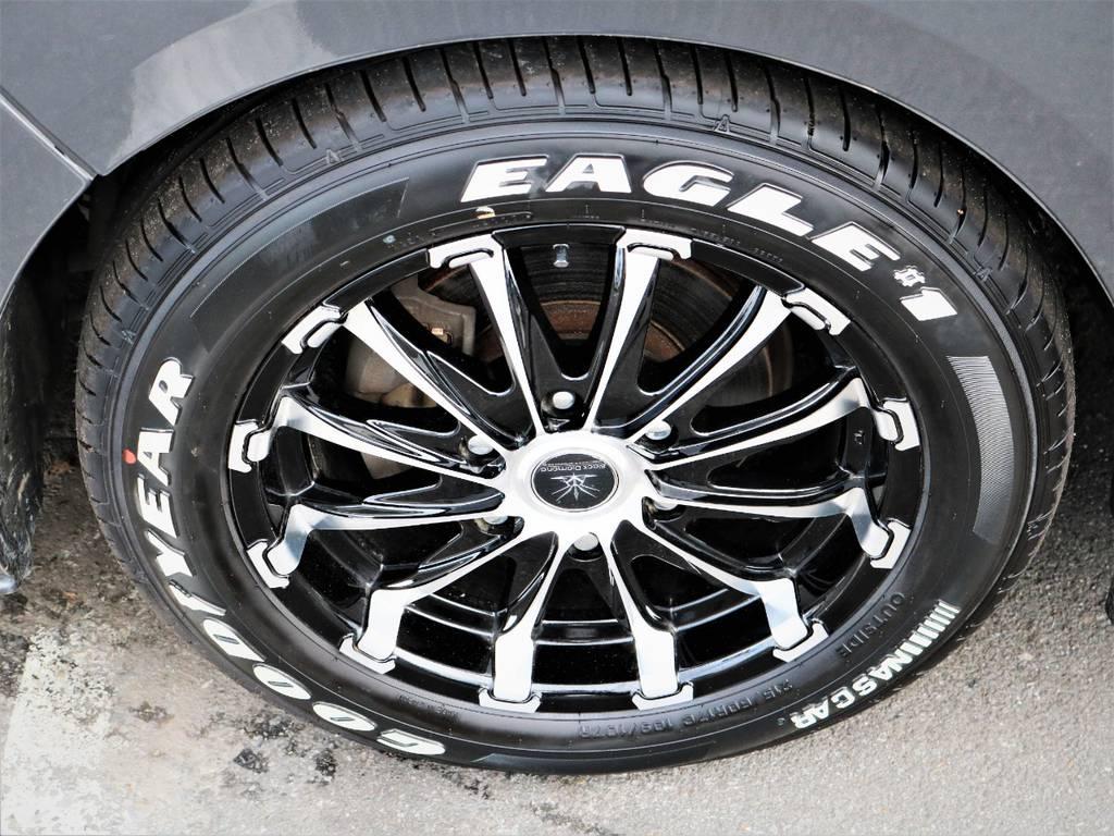 ブラックダイヤモンド17インチアルミホイール、ナスカータイヤ! | トヨタ レジアスエース 3.0 スーパーGL ロングボディ ディーゼルターボ 4WD