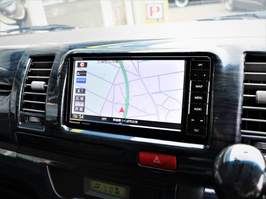 新品パナソニック製SDナビ、フルセグTV、DVD再生可能! | トヨタ レジアスエース 3.0 スーパーGL ロングボディ ディーゼルターボ 4WD