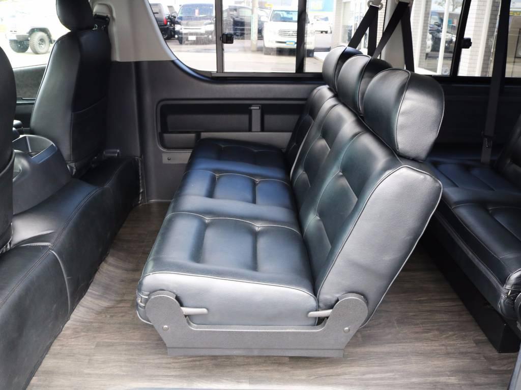 3人掛けセカンドシート! | トヨタ ハイエース 2.7 GL ロング ミドルルーフ シートレック