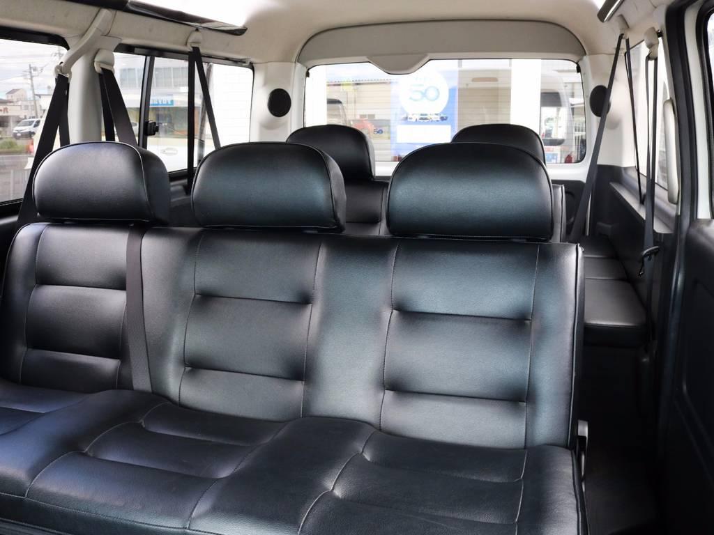 内装アレンジ「シートレック」!セカンドシート・サードシート変更!オールフルフラットや対面可能です♪ | トヨタ ハイエース 2.7 GL ロング ミドルルーフ シートレック