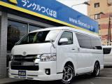 【スタンダード】ハイエースW「GL」10人乗り、新型自動ブレーキ搭載車輌♪SDナビ・ETC・後席モニター・17AW・シートカバー!