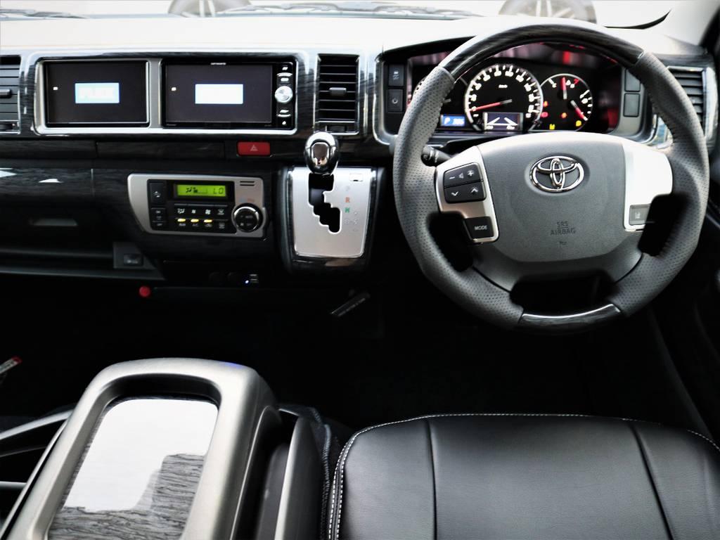 ステアリング周り! | トヨタ ハイエース 2.7 GL ロング ミドルルーフ 4WD ライトカスタム 新型