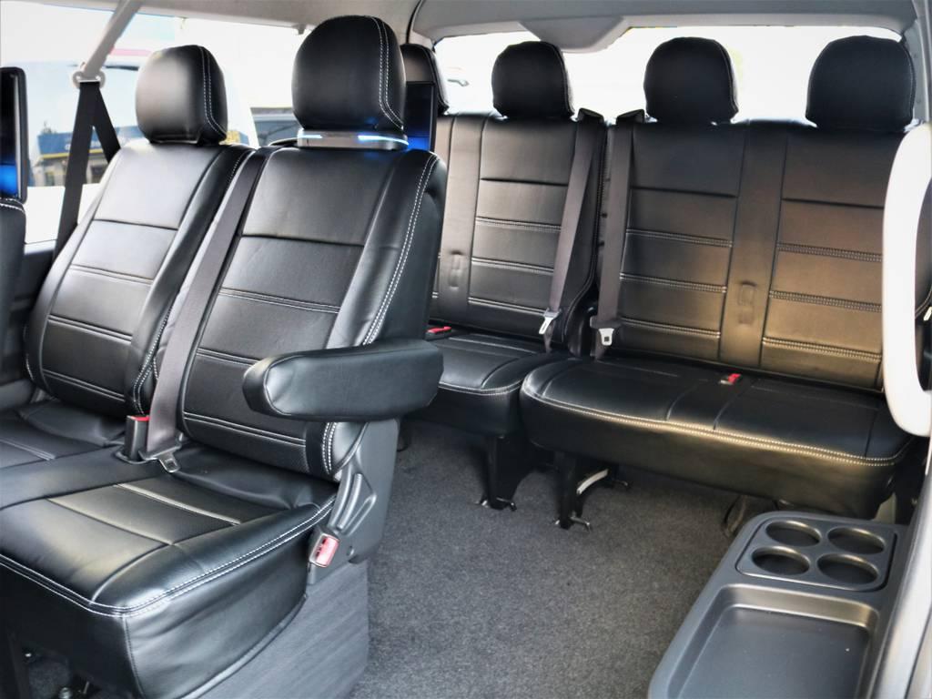 3列目4列目! | トヨタ ハイエース 2.7 GL ロング ミドルルーフ 4WD ライトカスタム 新型