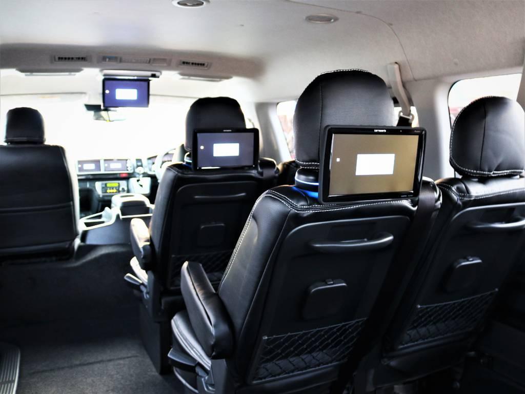 カロッツェリア製サブモニター、3列目4列目も快適に座れます! | トヨタ ハイエース 2.7 GL ロング ミドルルーフ 4WD ライトカスタム 新型