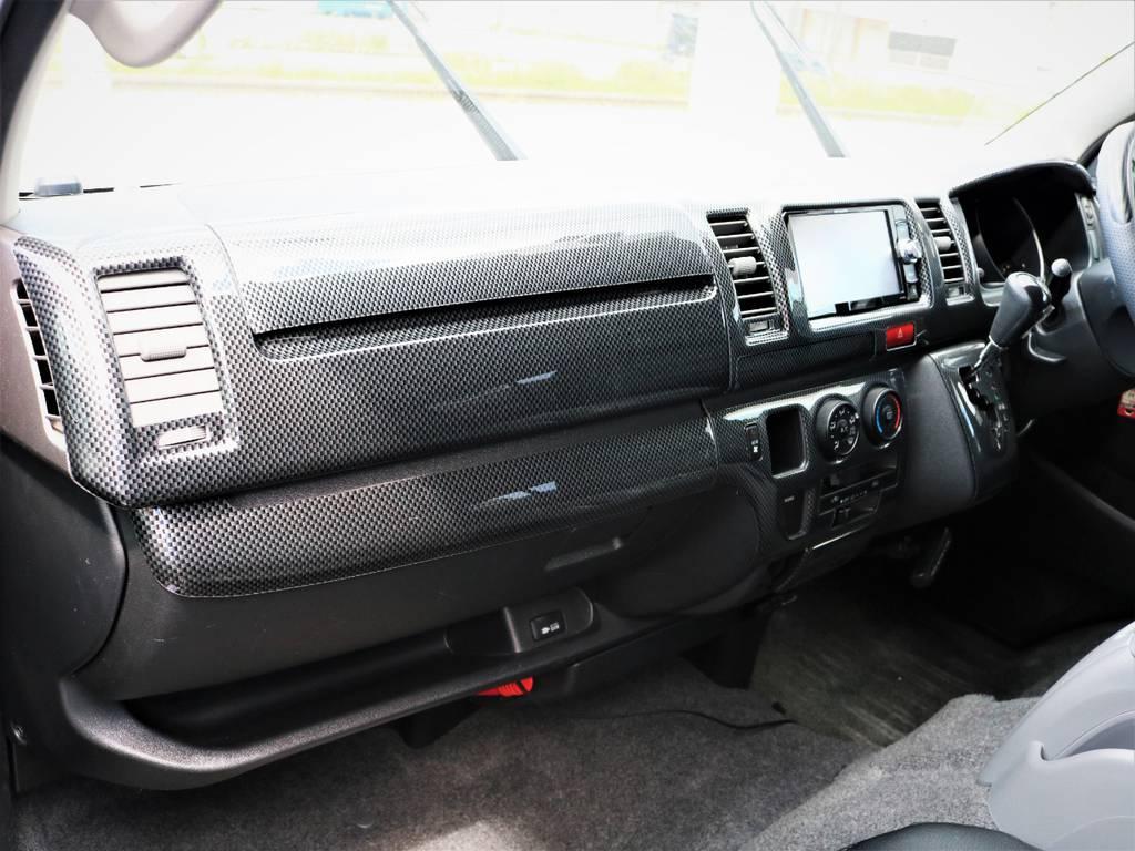 助手席エアバック付き、AC100V電源完備! | トヨタ ハイエースバン 2.0 スーパーGL ロング