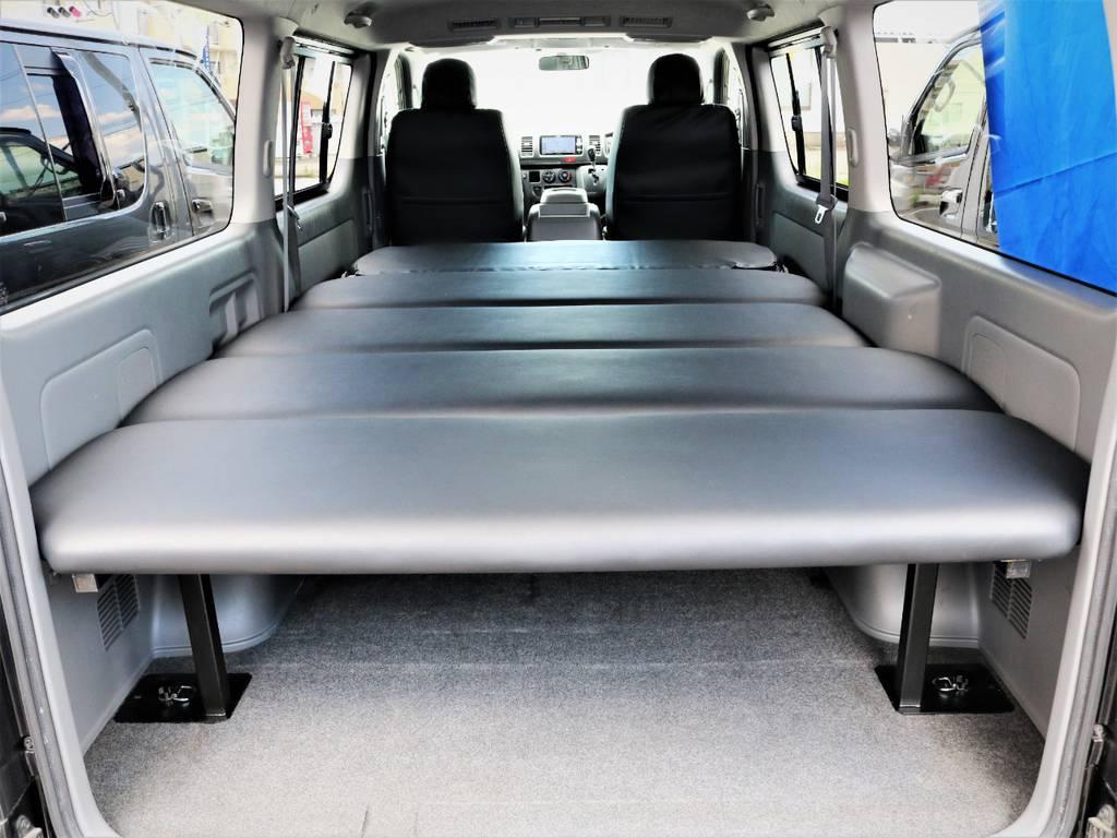 収納広々御座います。なんでも収納可能です!ベッドキット等も取付可能です! | トヨタ ハイエースバン 2.0 スーパーGL ロング
