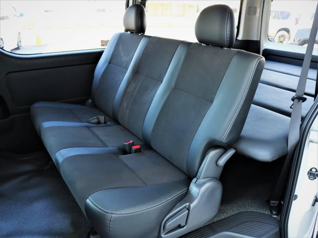 セカンドシート、折りたたみ可能です! | トヨタ ハイエースバン 2.8 スーパーGL ワイド ロング ミドルルーフ ディーゼルターボ 特別仕様車ダークプライム 新型