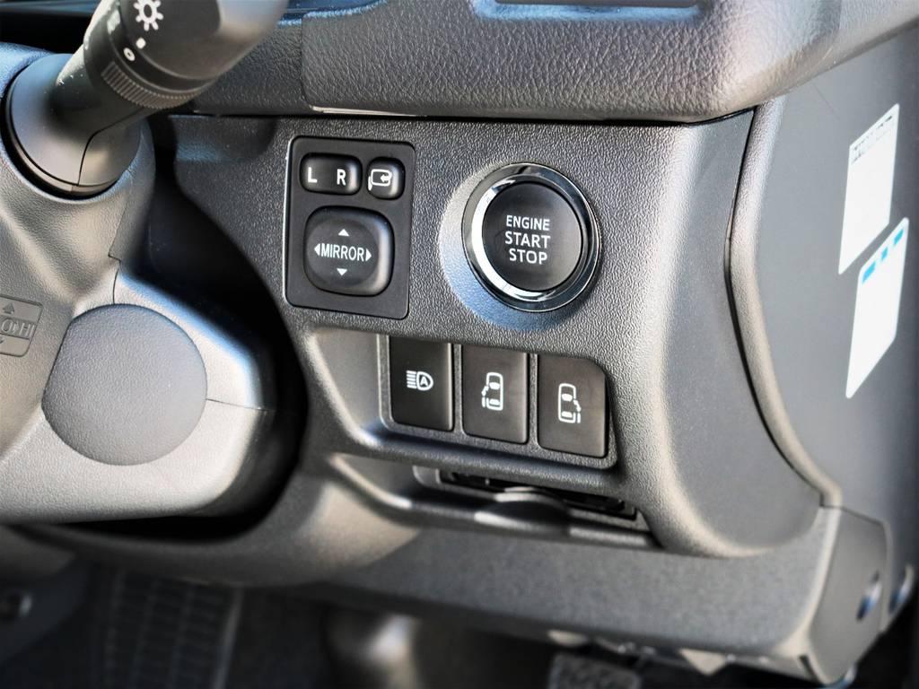 メーカーオプション「プッシュスタート、パワースライドドア」! | トヨタ ハイエースバン 2.8 スーパーGL ワイド ロング ミドルルーフ ディーゼルターボ 特別仕様車ダークプライム 新型