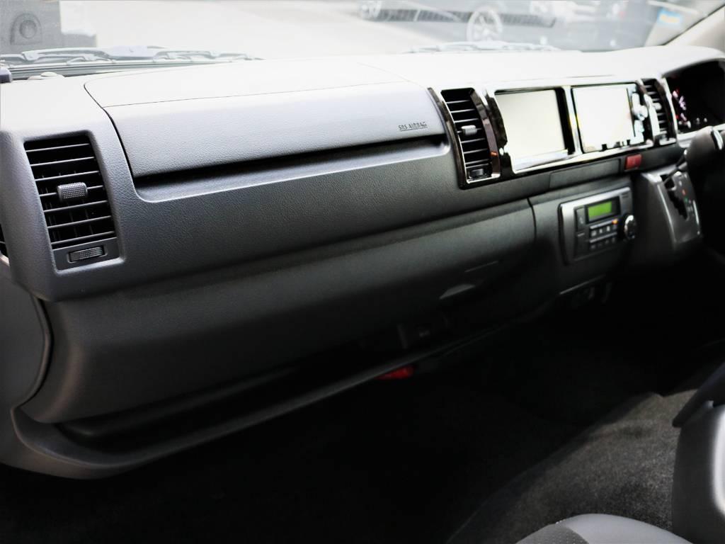 メーカーオプション「助手席エアバック」「AC100V電源」! | トヨタ ハイエースバン 2.8 スーパーGL ワイド ロング ミドルルーフ ディーゼルターボ 特別仕様車ダークプライム 新型