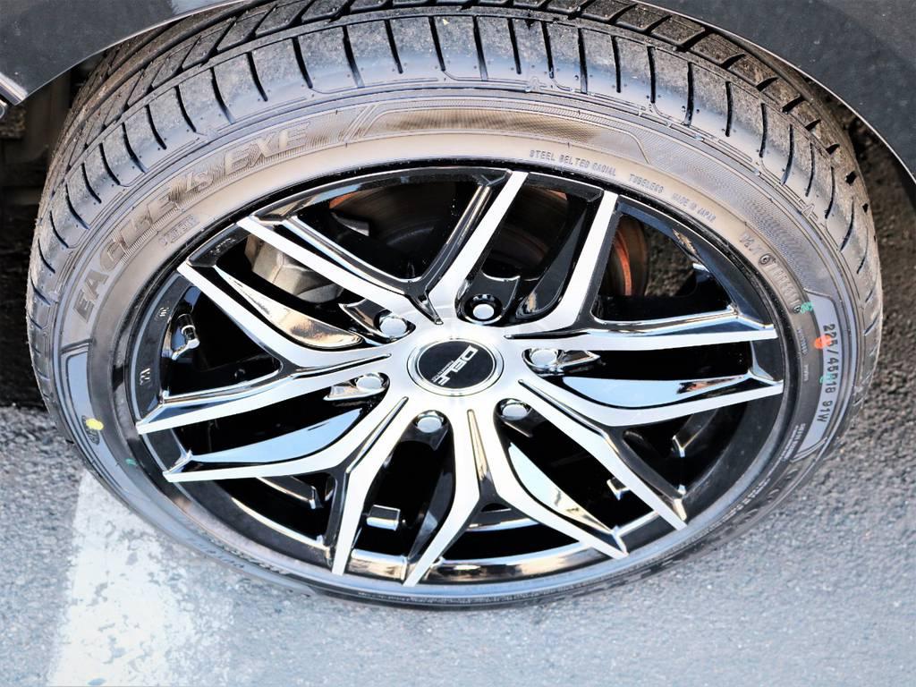 デルフ01ブラックポリッシュ18インチアルミホイール、国産タイヤグットイヤー!