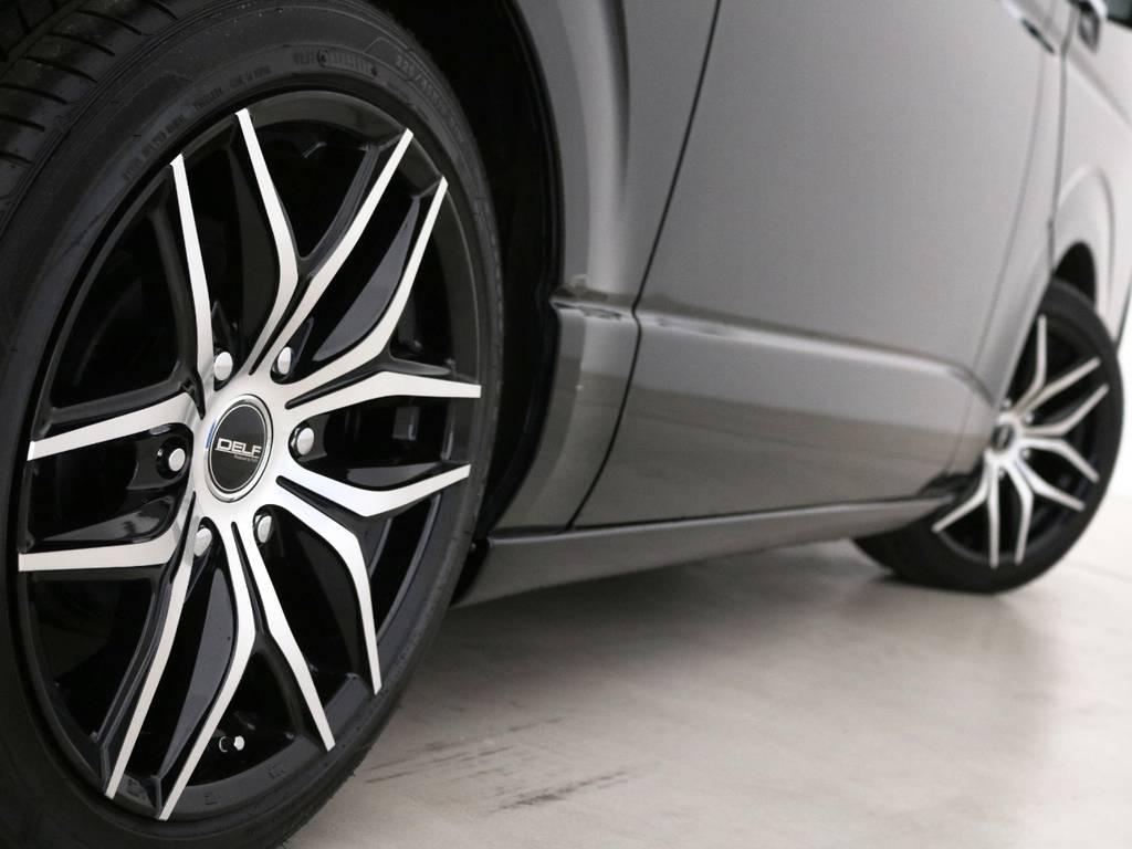 デルフ01ブラックポリッシュ18インチアルミホイール、国産タイヤグットイヤー! | トヨタ レジアスエース 2.0 スーパーGL ダークプライム ロングボディ