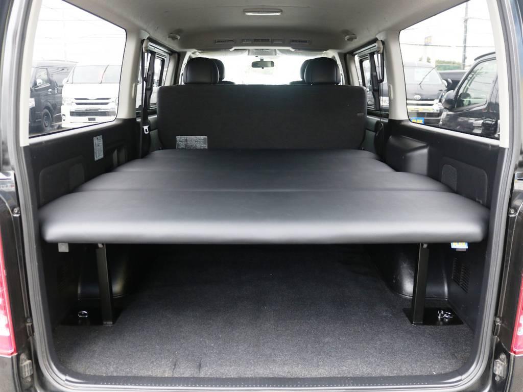 収納広々御座います。FLEXオリジナルベッドキット! | トヨタ レジアスエース 2.0 スーパーGL ダークプライム ロングボディ