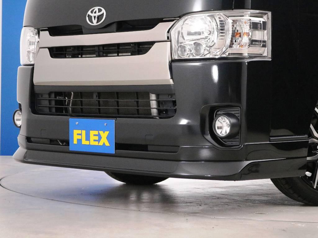 FLEXオリジナル、デルフィーノラインフロントスポイラー! | トヨタ レジアスエース 2.0 スーパーGL ダークプライム ロングボディ