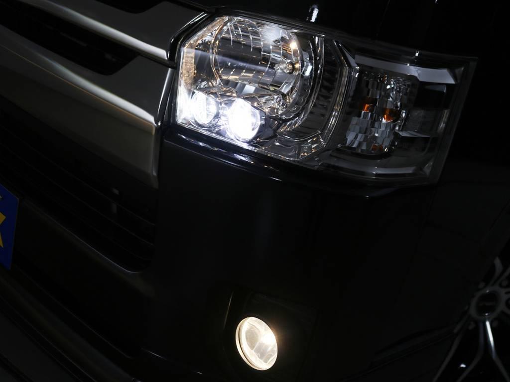 メーカーオプション「LEDヘッドライト」! | トヨタ レジアスエース 2.0 スーパーGL ダークプライム ロングボディ
