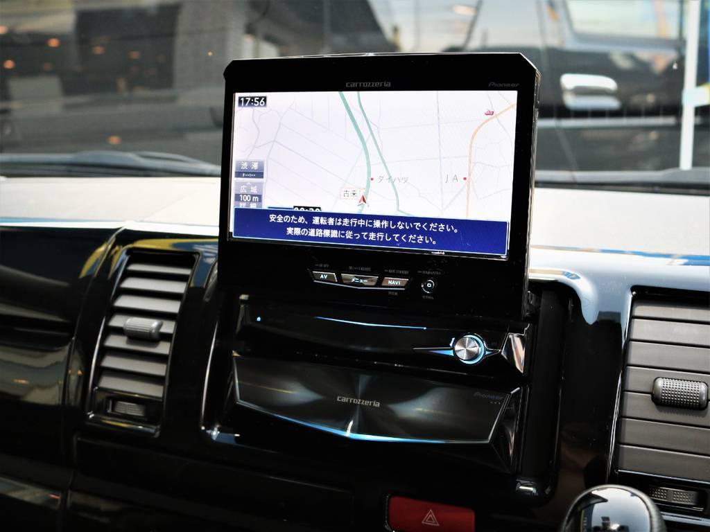 カロッツェリア製HDDサイバーナビ、フルセグTV、DVD再生可能! | トヨタ レジアスエース 2.0 スーパーGL ロングボディ 特別仕様車プライムセレクション