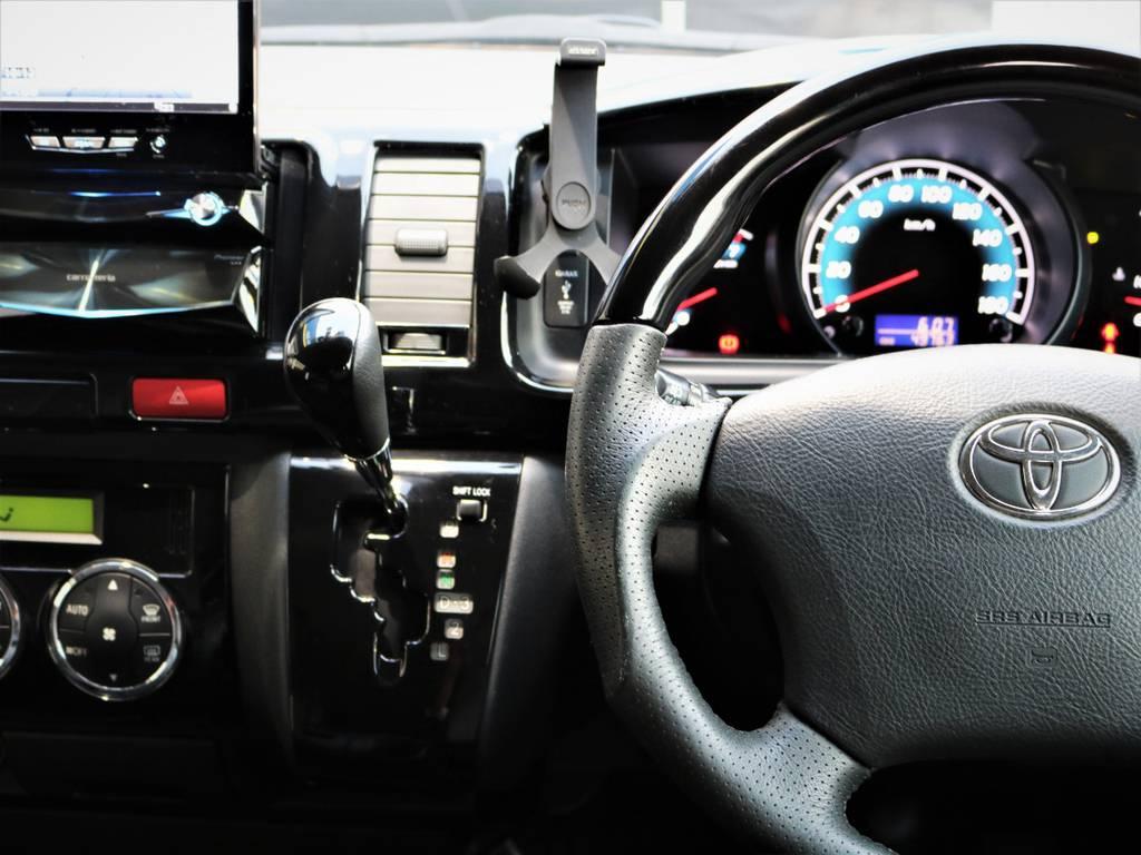 ピアノブラックパネル、ステアリング、シフトノブ! | トヨタ レジアスエース 2.0 スーパーGL ロングボディ 特別仕様車プライムセレクション