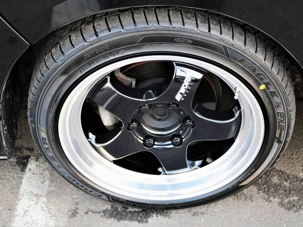 新品ワーク、エクストラップ18インチアルミホイール、国産タイヤグットイヤー!