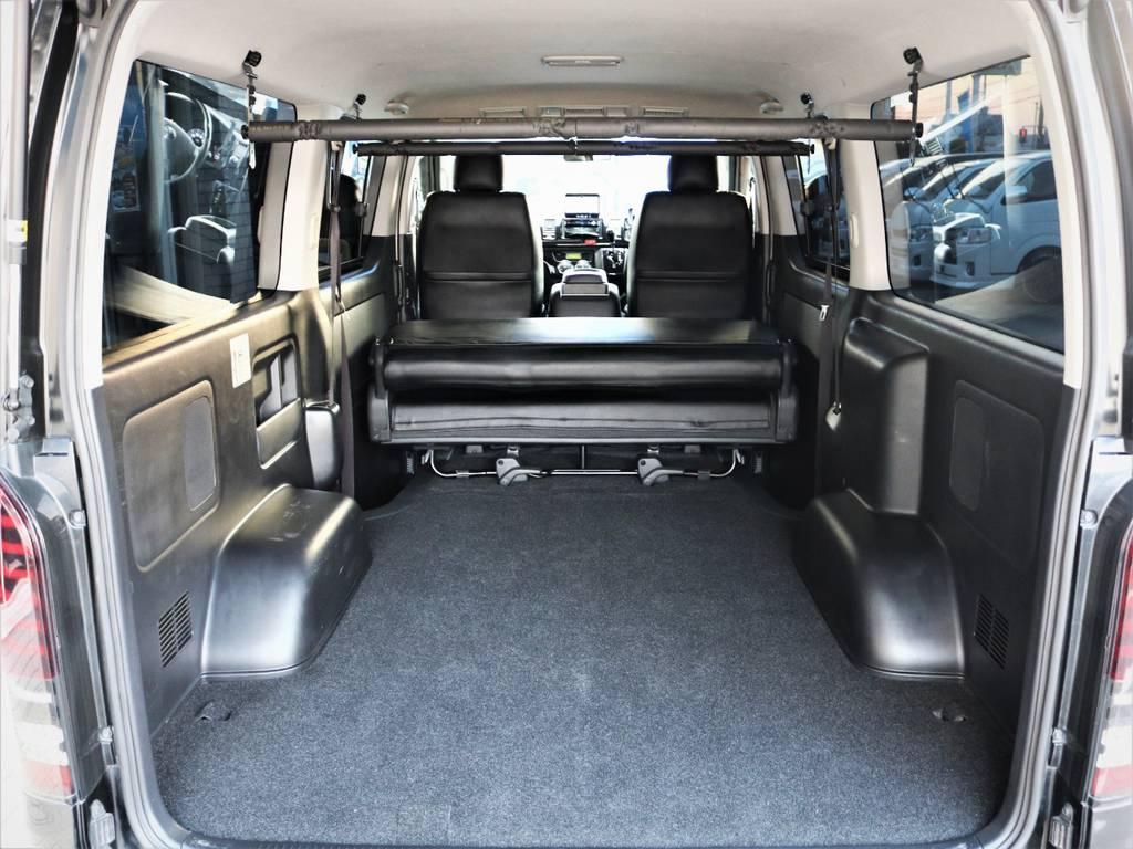 収納スペース広々御座います、何でも収納可能です!ベッドキット等もご相談下さい! | トヨタ レジアスエース 2.0 スーパーGL ロングボディ 特別仕様車プライムセレクション