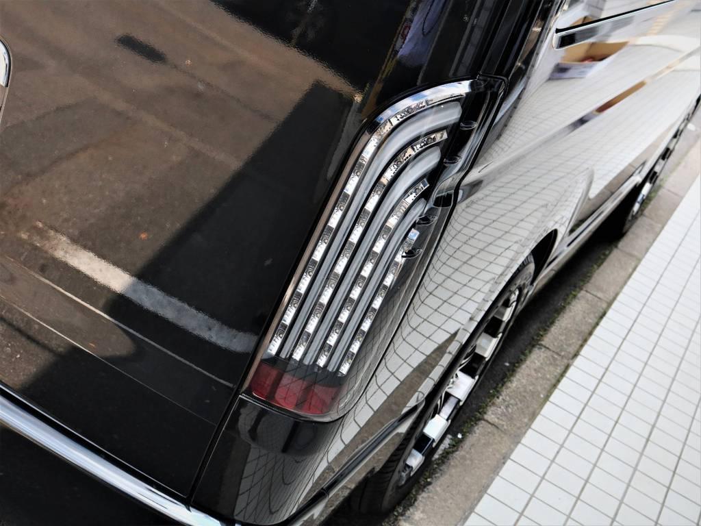 FLEXオリジナル煌テールランプ! | トヨタ ハイエース 2.7 GL ロング ミドルルーフ キャプテンシート ベッド
