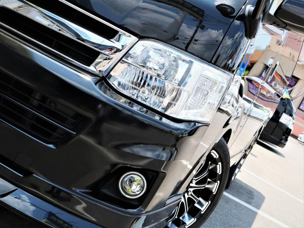 夜間走行に便利なメーカーオプション「HIDヘッドライト」! | トヨタ ハイエース 2.7 GL ロング ミドルルーフ キャプテンシート ベッド