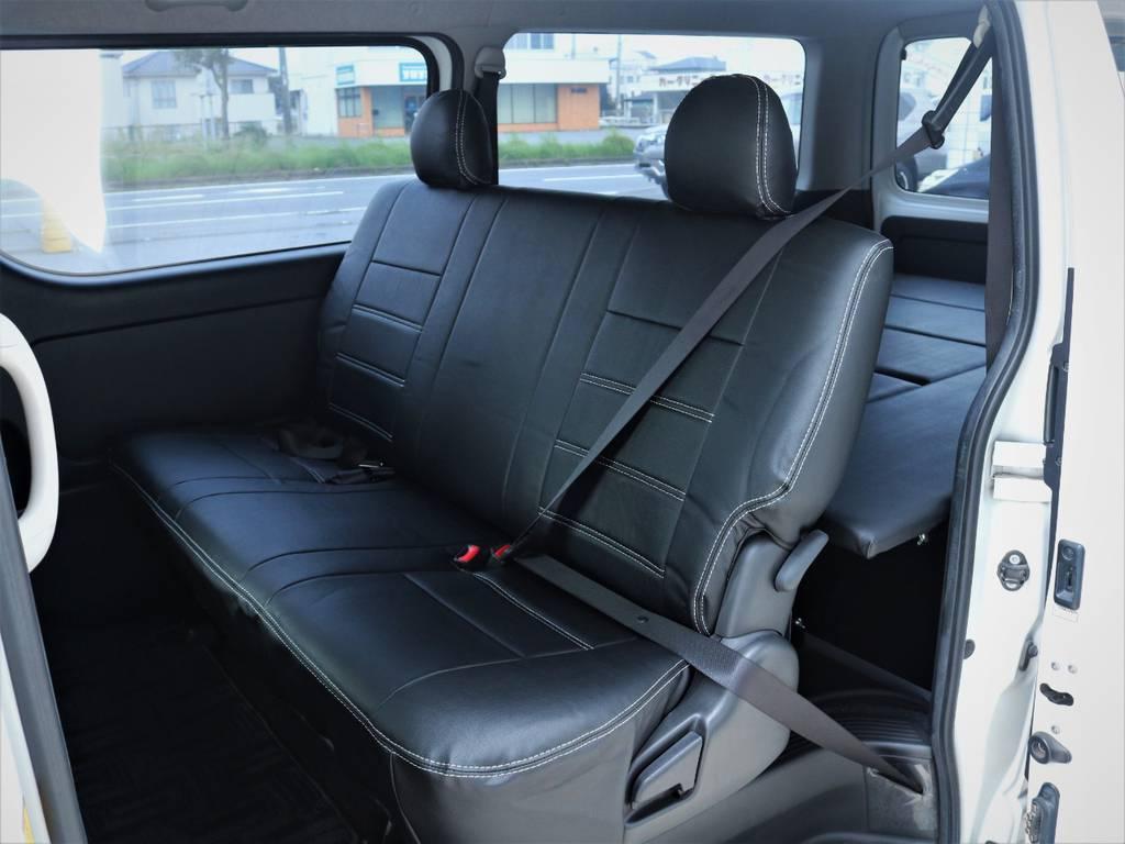 セカンドシート、シートベルト付き!   トヨタ ハイエースバン 3.0 スーパーGL ロング ディーゼルターボ 4WD ベッドキット