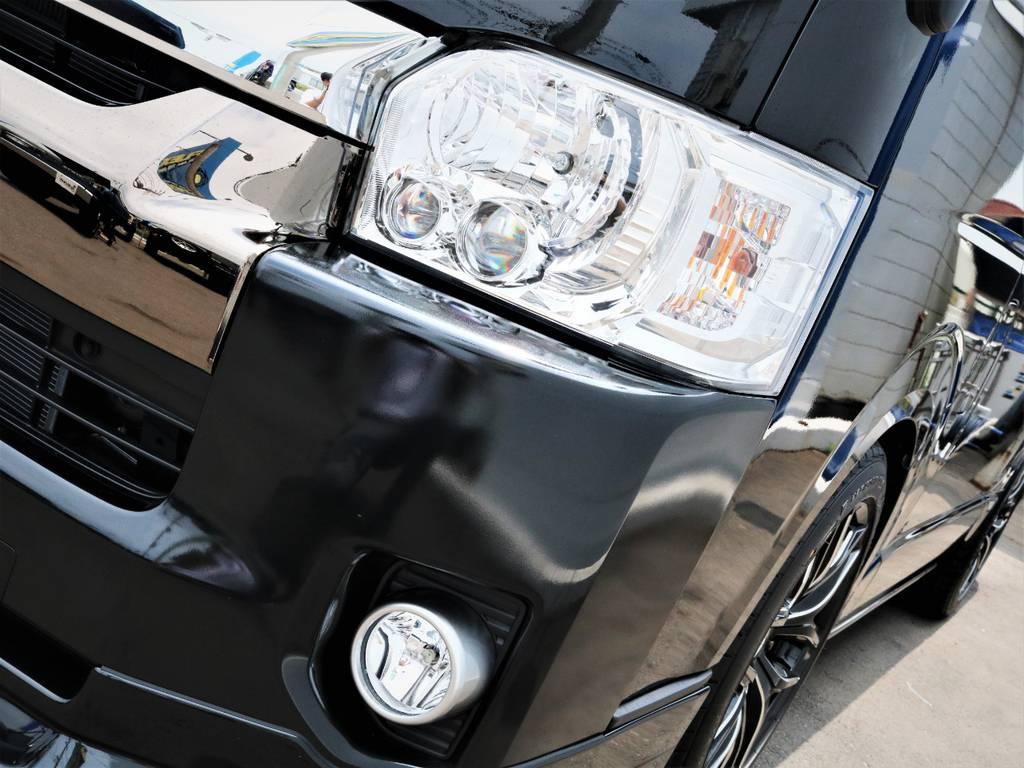 夜間走行に便利なメーカーオプション「LEDヘッドライト」!