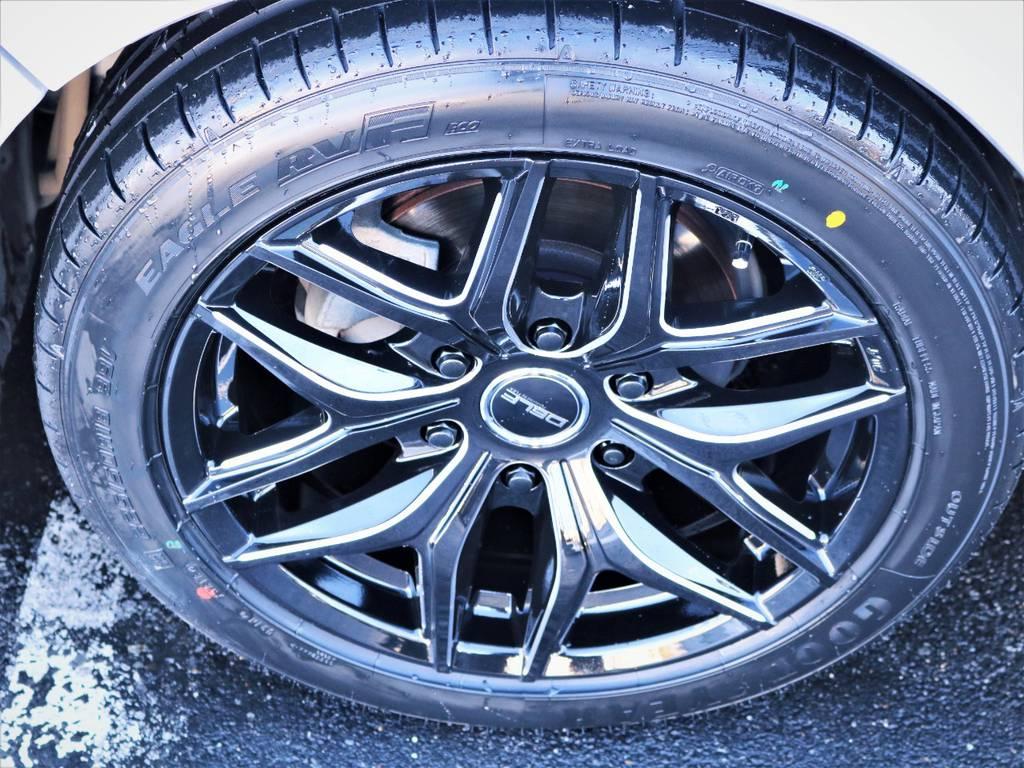 新品デルフ01ブラックミーリング18インチアルミホイール、国産グットイヤータイヤ! | トヨタ ハイエースバン 2.0 スーパーGL ロング エースキット 5ナンバー 8人乗り