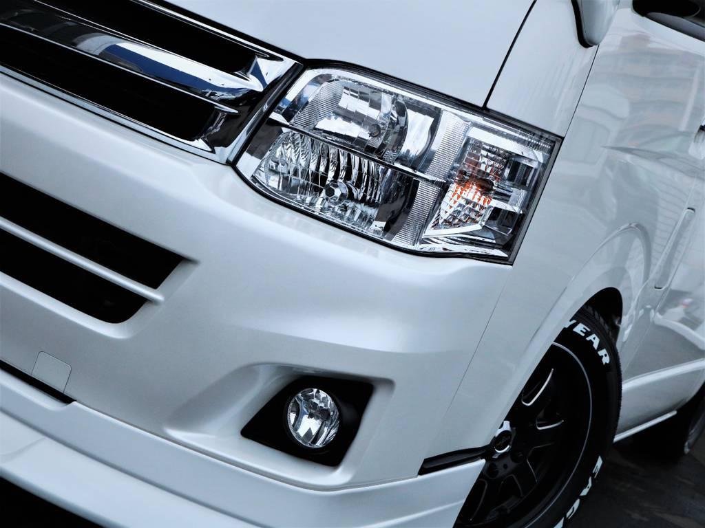夜間走行に便利なメーカーオプション「HIDヘッドライト」! | トヨタ ハイエース 2.7 GL ロング ミドルルーフ ファインテックツアラー