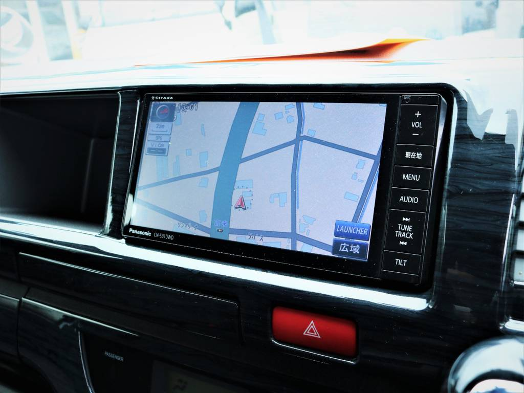 パナソニック製SDナビ、フルセグTV、DVD再生可能です! | トヨタ ハイエース 2.7 GL ロング ミドルルーフ ファインテックツアラー
