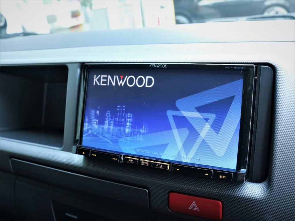 ケンウッド製SDナビ、フルセグTV、DVD再生可能です! | トヨタ レジアスエース 2.7 スーパーGL ワイド ミドルルーフ ロングボディ 4WD ベッドキットパッケージ