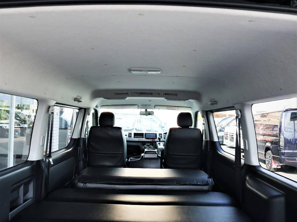 天井広々、状態も良好です! | トヨタ レジアスエース 2.7 スーパーGL ワイド ミドルルーフ ロングボディ 4WD ベッドキットパッケージ