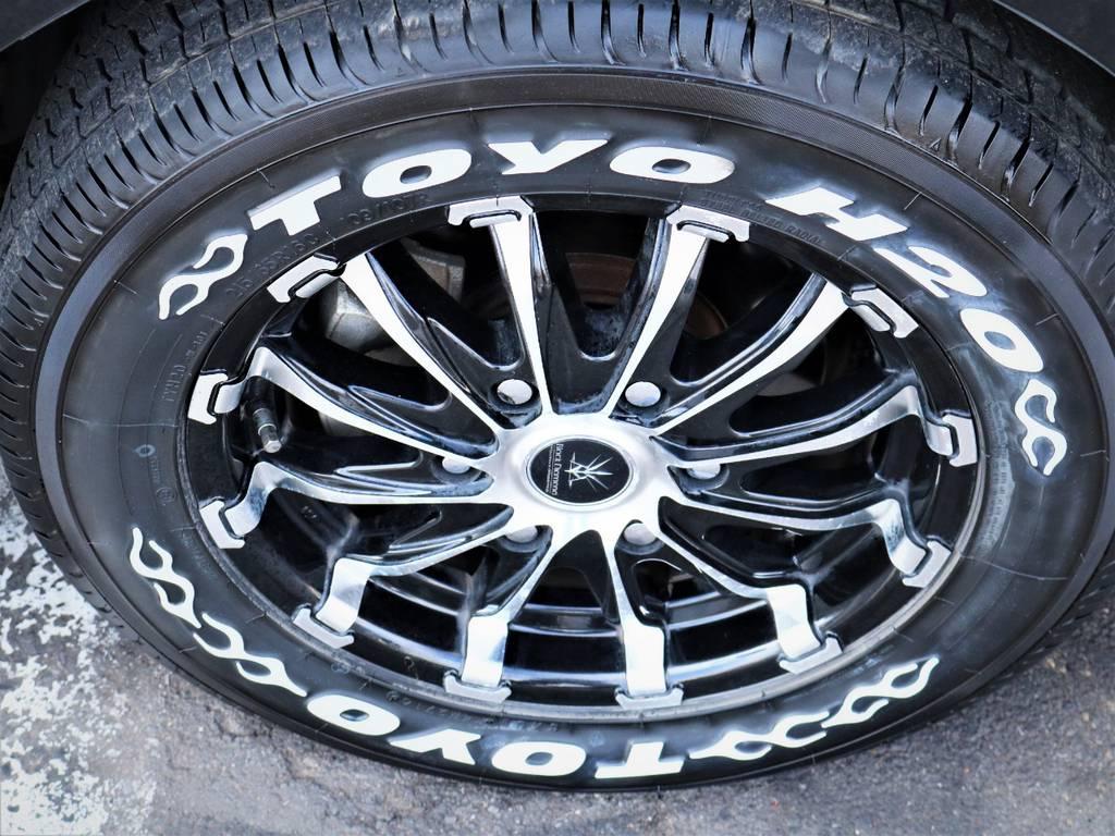 ブラックダイヤモンド16インチアルミホイール、トーヨータイヤ! | トヨタ レジアスエース 2.7 スーパーGL ワイド ミドルルーフ ロングボディ 4WD ベッドキットパッケージ