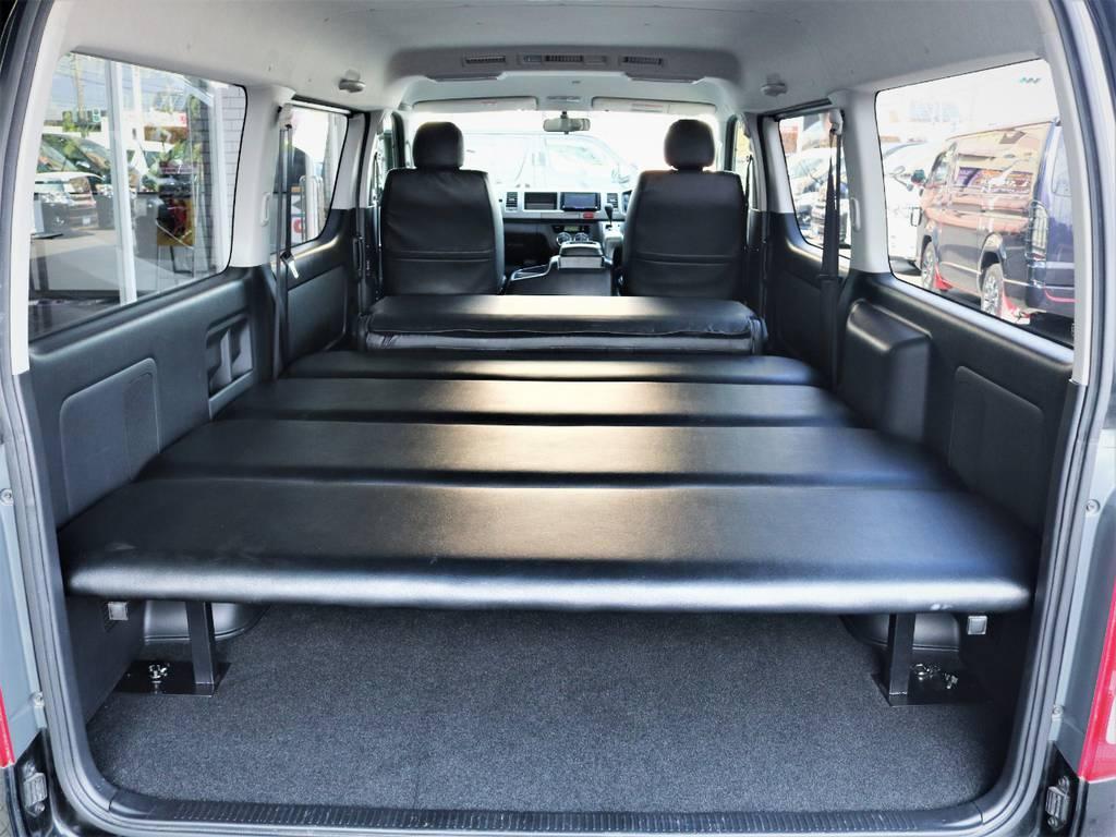 4分割ベッドキット! | トヨタ レジアスエース 2.7 スーパーGL ワイド ミドルルーフ ロングボディ 4WD ベッドキットパッケージ