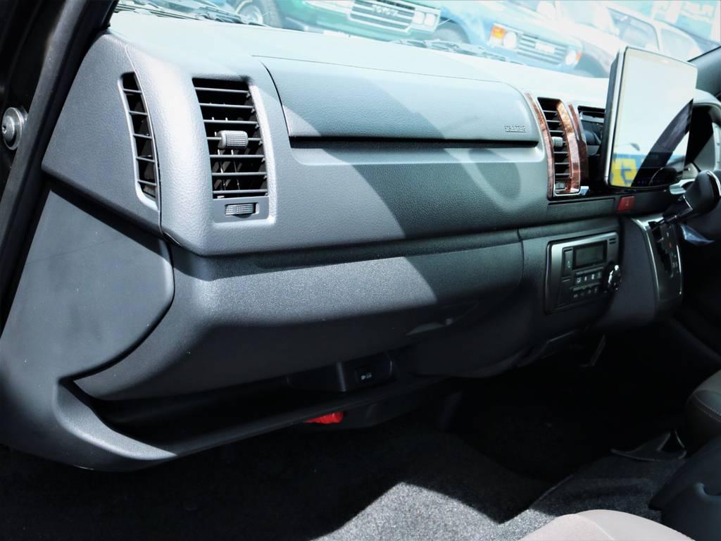 助手席エアバック、AC100V電源! | トヨタ ハイエースバン 2.8 スーパーGL 50TH アニバーサリー リミテッド ロングボディ ディーゼルターボ ベッドキット