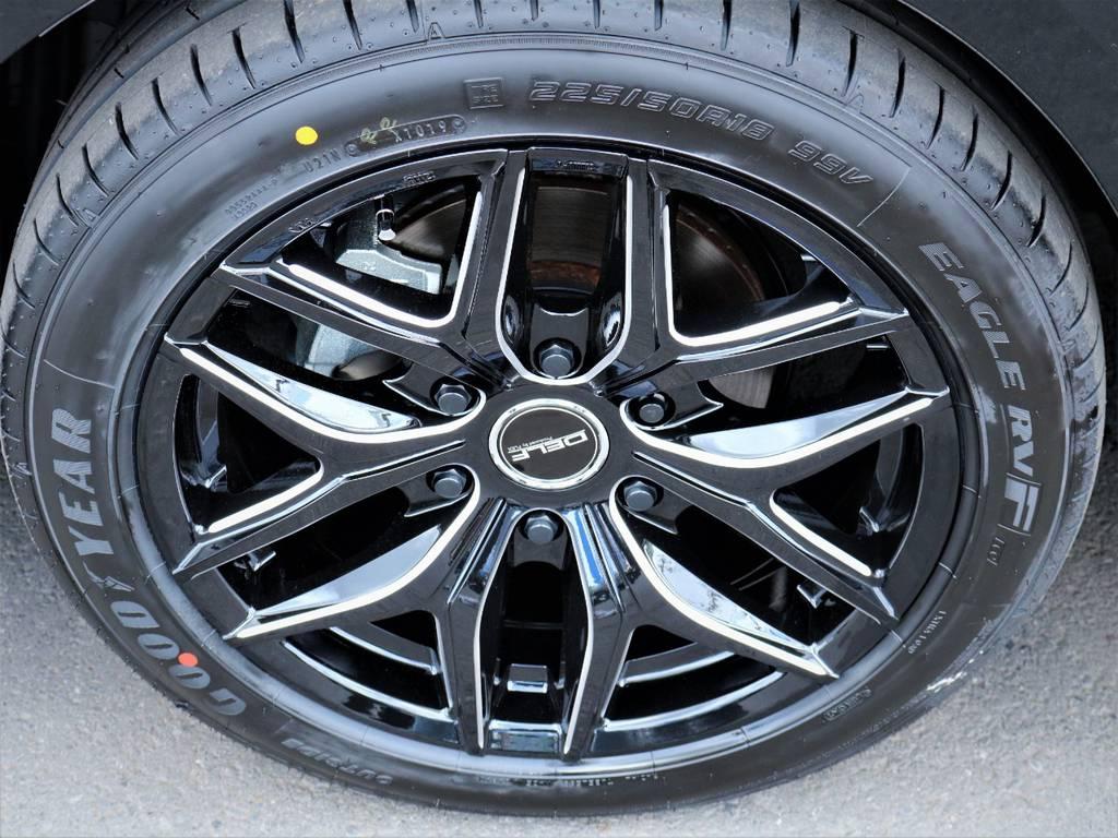デルフ01BM18インチアルミホイール、国産グットイヤータイヤ! | トヨタ ハイエースバン 2.8 スーパーGL 50TH アニバーサリー リミテッド ロングボディ ディーゼルターボ ベッドキット