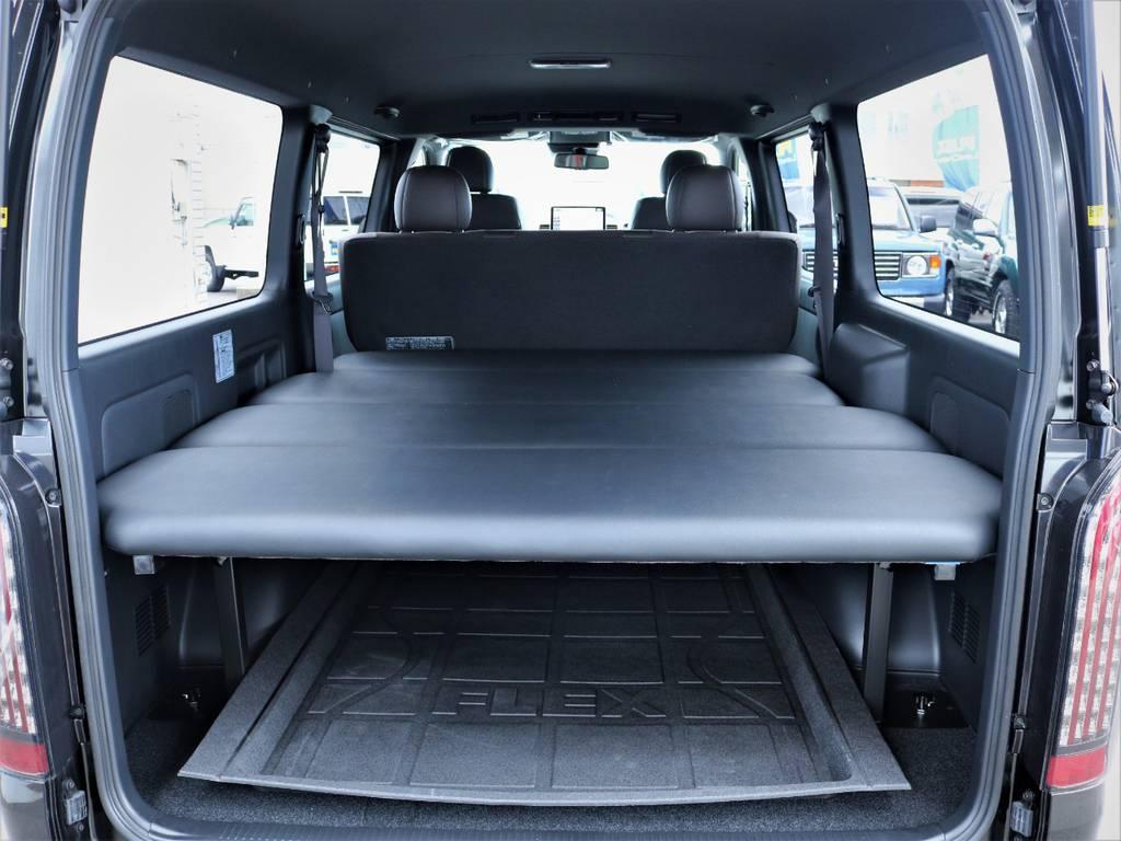 FLEXオリジナル4分割ベッドキット! | トヨタ ハイエースバン 2.8 スーパーGL 50TH アニバーサリー リミテッド ロングボディ ディーゼルターボ ベッドキット