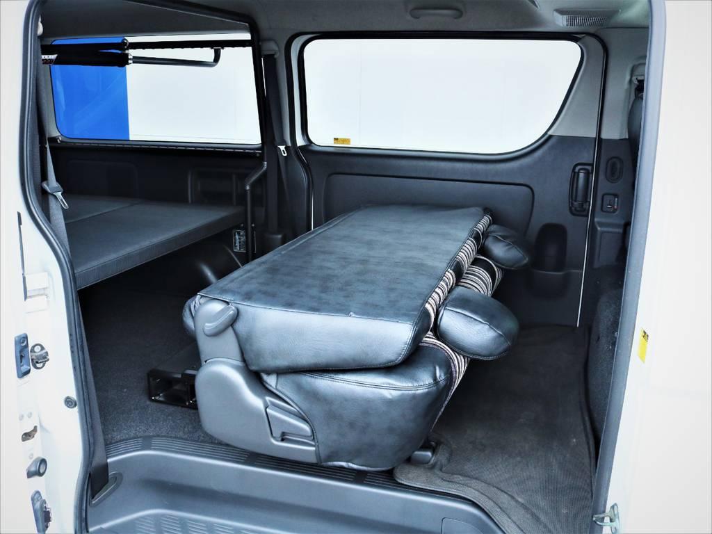 シートを折りたたんだ状態! | トヨタ ハイエースバン 3.0 スーパーGL ロング ディーゼルターボ 4WD 買取直販