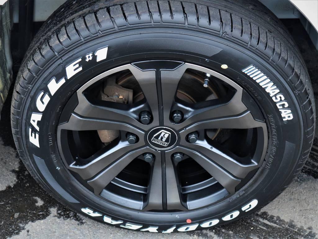 バルベロ17インチアルミホイール、ナスカータイヤ! | トヨタ ハイエースバン 3.0 スーパーGL ロング ディーゼルターボ 4WD 買取直販