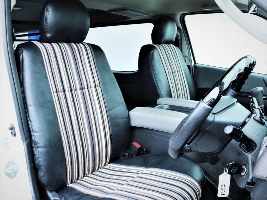 運転席シート、オリジナルシートカバー! | トヨタ ハイエースバン 3.0 スーパーGL ロング ディーゼルターボ 4WD 買取直販