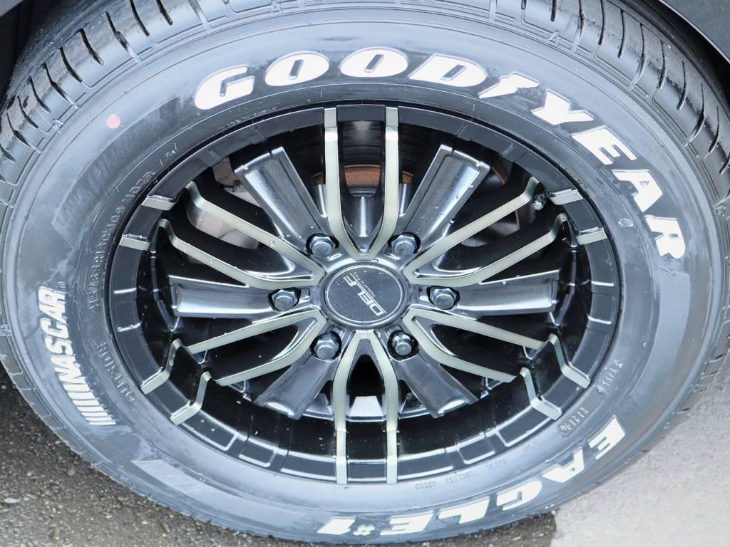 デルフ16インチアルミホイール、ナスカータイヤ! | トヨタ ハイエース 2.7 GL ロング ミドルルーフ 内装アレンジ