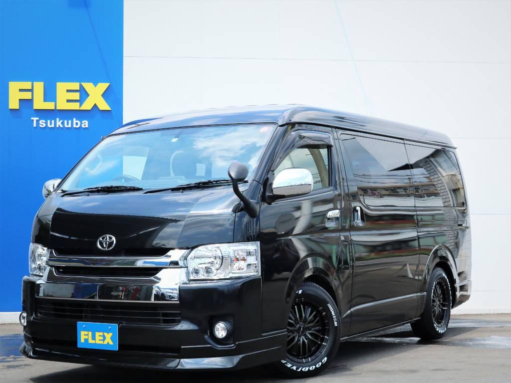 平成26年ハイエースW「GL」10人乗り2WDガソリン車!フローリング・シート変更・テーブル付き!