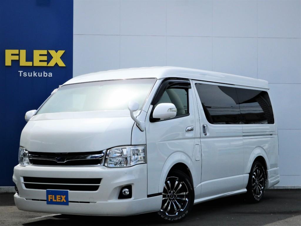 平成22年ハイエースW「GL」10人乗り2WDガソリン車!買取直販、フルエアロ、ベッド付き!