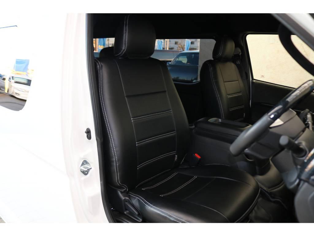 全席シートカバー装備♪ | トヨタ ハイエース 2.7 GL ロング ミドルルーフ TSS付Ver2テーブル付 試乗車