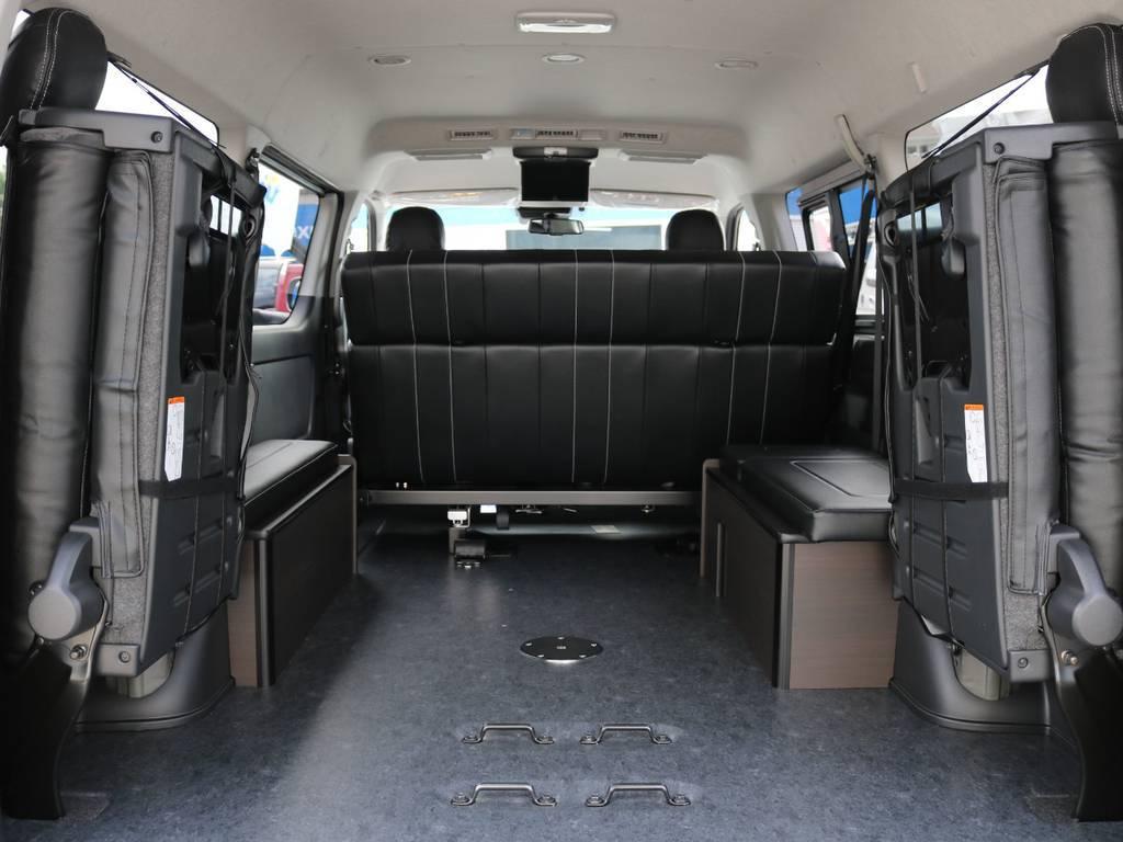 カーゴスペース確保も可能♪ | トヨタ ハイエース 2.7 GL ロング ミドルルーフ 4WD TSS寒冷地付アレンジAS
