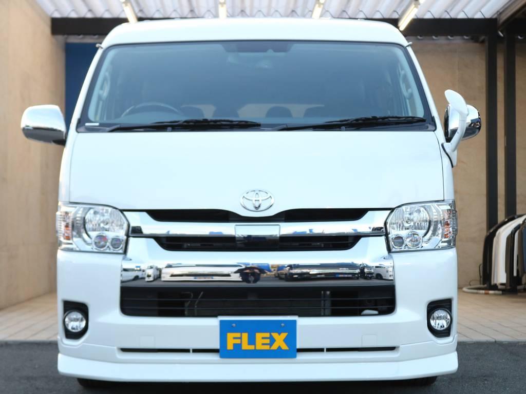 純正LEDヘッドライト・セーフティセンス付き♪ | トヨタ ハイエース 2.7 GL ロング ミドルルーフ 4WD TSS寒冷地付アレンジAS