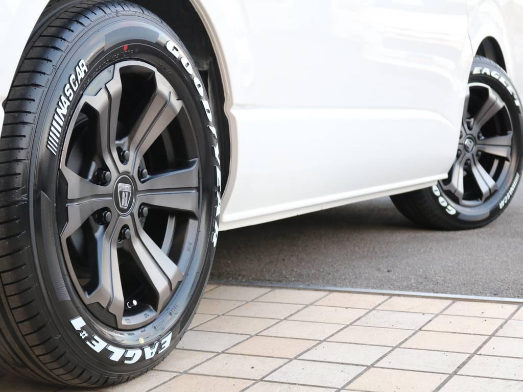 FLEXバルベロ グランデ17インチAW・ナスカータイヤ♪ | トヨタ ハイエース 2.7 GL ロング ミドルルーフ 4WD TSS寒冷地付アレンジAS