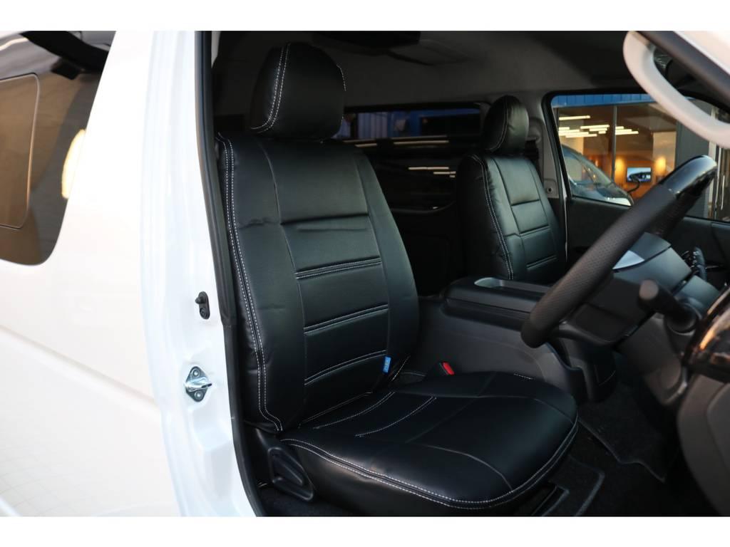 全席シートカバー♪ | トヨタ ハイエース 2.7 GL ロング ミドルルーフ 4WD TSS寒冷地付アレンジAS