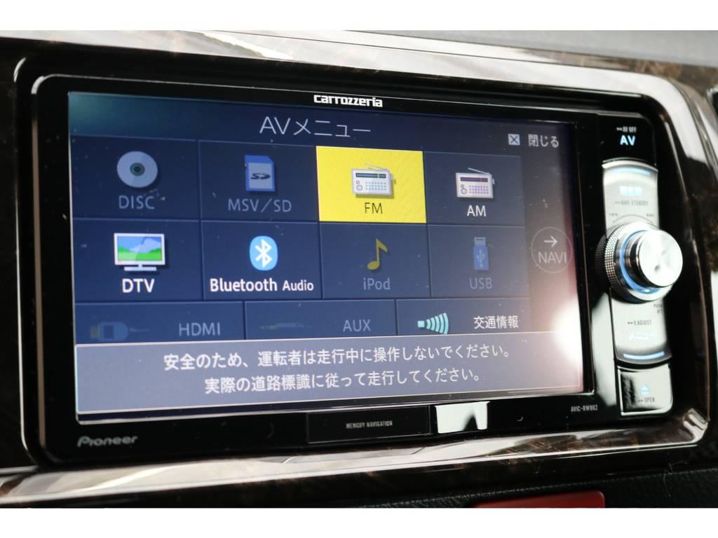 パイオニア製SDナビゲーション♪ | トヨタ ハイエースバン 2.7 スーパーGL ダークプライムⅡ ワイド ミドルルーフ ロングボディ 4WD アクティブPKG
